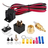 50Amp Relay Electric Cooling Fan Wiring Thermostat Install Kit ON at 185 OFF 165