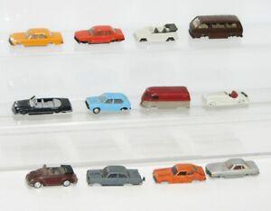 """Wiking Herpa 1:87 12 x PKW Modellautos """"für Bastler"""" FT636"""