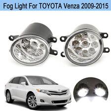 9 LED Fog Light Lamp For TOYOTA Venza 2009 2010 2011 2012 2013 2014 2015 PAIR