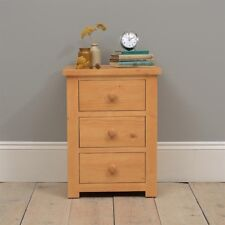 Oakley / Oxbury Pine Bedside Chest - 3 Drawer Dovetailed