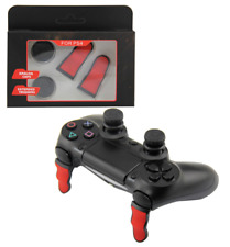 PS4 Controller Aimassist Set Extended Triggers Curved + FPS Analog Grip Caps
