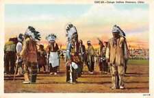 Osage Idnian Dancers Oklahoma Native Americana Antique Postcard J68694