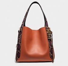 $795 NEW COACH 76418 SUNSET MULTI SNAKESKIN HARMONY HOBO