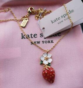 Kate Spade New York Picnic Perfect Strawberry Mini Pendant Necklace