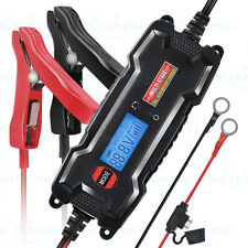 MICTUNING LCD Display Smart Car  lead acid Battery Charger Maintainer 3.8A 6V12V