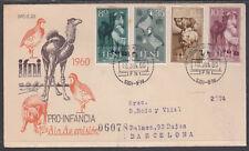 Ifni 159/62  1960  Pro infancia Fauna SPD Sobre Primer Día