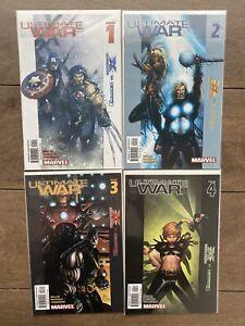 Ultimate War #1 2 3 4 Complete Set Lot Run Marvel Mark Millar & Chris Bachalo NM