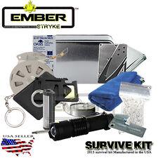 Survival Fire Starting Kit Ember stryke Magnesium Waterproof Matches Tinder SOS