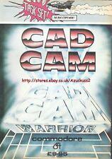 Cad Cam Warrior Commodore 64 Game Task Set 1985 Vintage Magazine Advert #5277