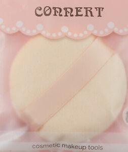 2 x Powder Puffs ULTRA  SOFT Large Round Velour Puff Cosmetic Foundation Sponge