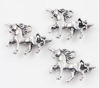 20Pc Retro Tibet Silver Unicorn Loose Spacer Pendant Charm Jewelry Finding Craft
