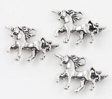 Wholesale 20x Tibet Silver Unicorn Loose Spacer Pendant Charm Jewelry Making