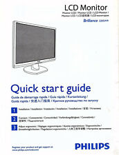 Monitor Installation Instructions Connect Ergonomic PHILIPS LCD Brilliance220SW9