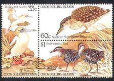 Cocos Keeling 1985 Birds/Nature/Wildlife/Heron/Conservation 3v set blk (n39790)