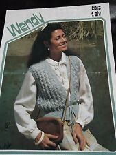 Wendy Knitting Pattern 2013 for Lady's Lacy Waistcoat in 4 ply