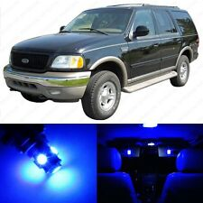 13 x Ultra Blue LED Interior Light Package For 1997 - 2002 Ford Expedition