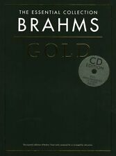 The Essential Collection Brahms Gold Learn Play Piano Classical Music Book & CD