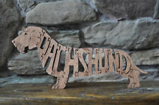 Brown Wire Haired Dachshund Dog Amish Wood Toy Puzzle