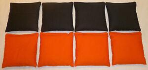 Orange & Black Baggo / Cornhole  Bean Bags