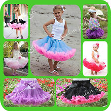 Fluffy Party Dance Kids Tutu Skirt baby Tutu Pettiskirt Girls Tutu
