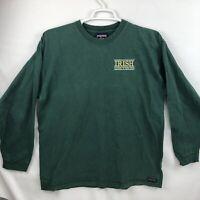 Vintage Jansport Notre Dame NCAA Fighting Irish Green Long Sleeve Shirt Large