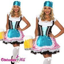Ladies Beer Maid Wench Oktoberfest Costume German Heidi Gretchen Dirndl Outfit