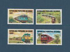 Congo république  trains   communication  1984  num: 726/29  **