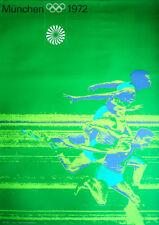 MUNICH 1972 OLYMPICS SPRINT A0 poster 33x47 OTL AICHER art Vintage