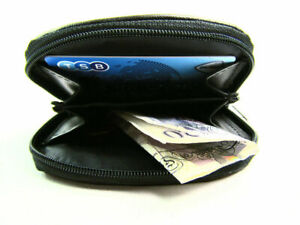 Mens or Ladies Quality Small Real Leather Coin Purse Pouch Wallet Zip Around
