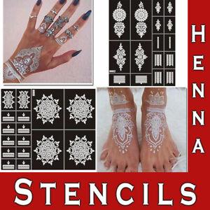 Henna Stencils Hand Temporary Tattoo India Body Art Lace Mehndi Stencil Template