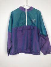 VTG Girl Rebel Sports 1/2 Zip Anorak Pullover Windbreaker Iridescent Jacket Sz M
