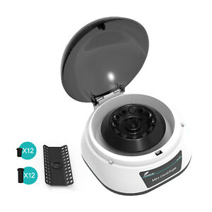 Lab Microcentrifuge Machine Benchtop Centrifuge 2 Rotors for 0.2/0.5/1.5/2ml