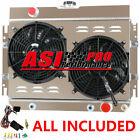 3 ROW Aluminum Radiator+Shroud Fan For 63-68 Chevy Impala, 64 65 66 67 EL Camino