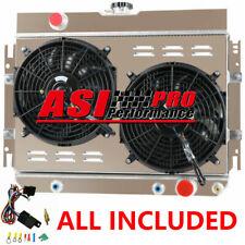 3 Row Aluminum Radiatorshroud Fan For 63 68 Chevy Impala64 65 66 67 El Camino