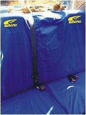SUBARU WORLD RALLY TEAM REAR SEAT COVERS SWOOSH LOGO IN YELLOW WRX WR LTD REAR