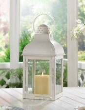 "Gable Large White Wedding Candle Lantern 15 3/4"" tall Party Supplies 10015997"