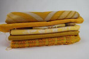 70er Vintage Stoff Gardine Meterware Reststücke Dekostoff Fabric 60s NOS 2kg