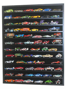 Hot Wheels 1:64 - 1:43 Scale Diecast Display Case Cabinet Wall Rack, NO DOOR