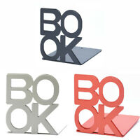 Heavy Duty Metal Letter Bookends Book Ends Office Supplies Stationery 1Pair G9Z