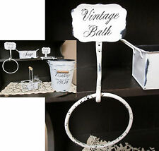 Iron Bathroom Towel Ring Distressed White Vintage Bath Collection Bathroom Decor