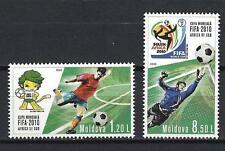 Moldavie 2010 coupe du monde de football Yvert n° 618 et 619 neuf ** 1er choix