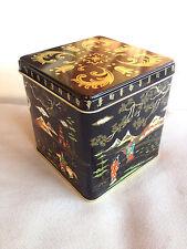 VINTAGE TIN BOX STORAGE BOX BARET WARE ENGLAND ORIENTAL SENSES NEW OLD STOCK