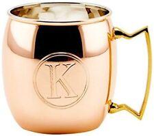 Moscow Mule Mug K Old Dutch 16oz Monogrammed Solid Copper Hammerd steele Pure