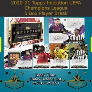 Erling Haaland 2020-21 Topps Inception UEFA Champions League 5 Box Break