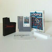 Nintendo NES Video Game - LOOPZ - COMPLETE w/ Box, Game and Manual - CIB