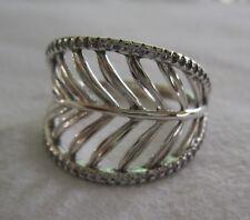 Authentic Genuine Pandora Silver CZ Tropical Palm Leaf Ring 190952CZ-56