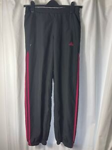 Adidas women's tracksuit bottoms size 10 Black and Vivid Pink Climalite
