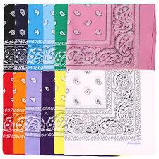 LOT OF 12 PCS Mix Color Bandana Paisley Face Cover Head Wrap Scarf 100% Cotton