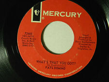 Fats Domino 45 WHAT'S THAT YOU GOT ? / IT'S NEVER TOO LATE ~ VG to VG+