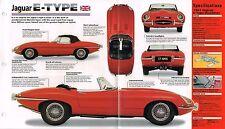JAGUAR E TYPE SPEC SHEET/Brochure/Catalog:1961,1962,...